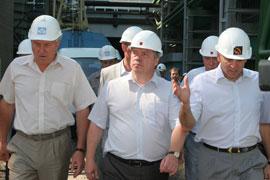 Посещение Таганрогского металлургического завода.